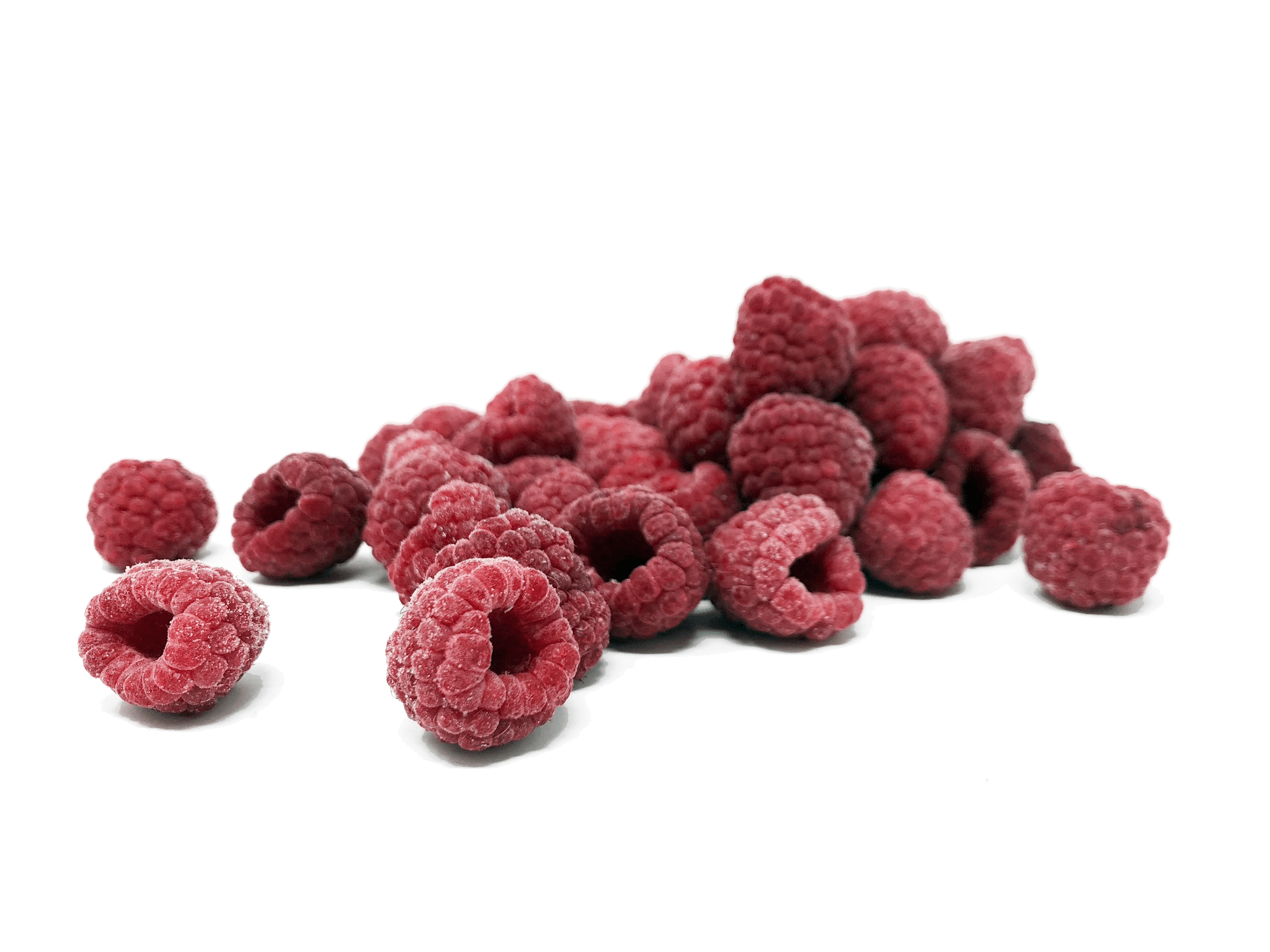 Freezing of fresh raspberries