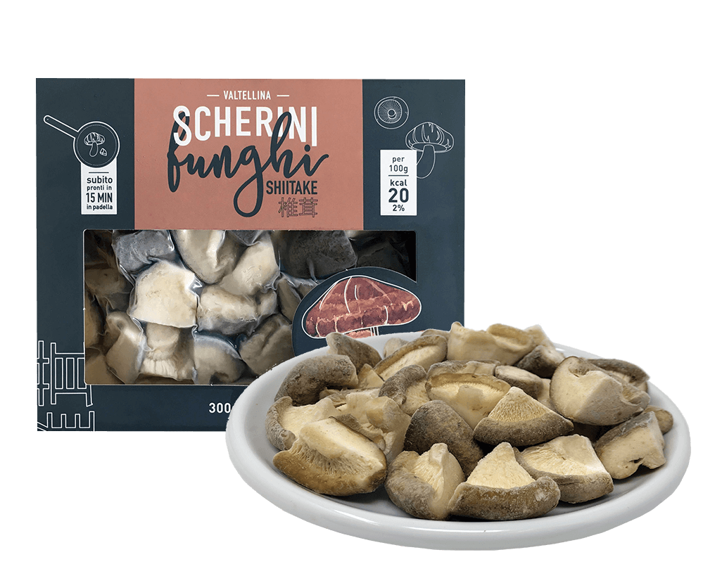 Scherini frozen shiitake mushrooms