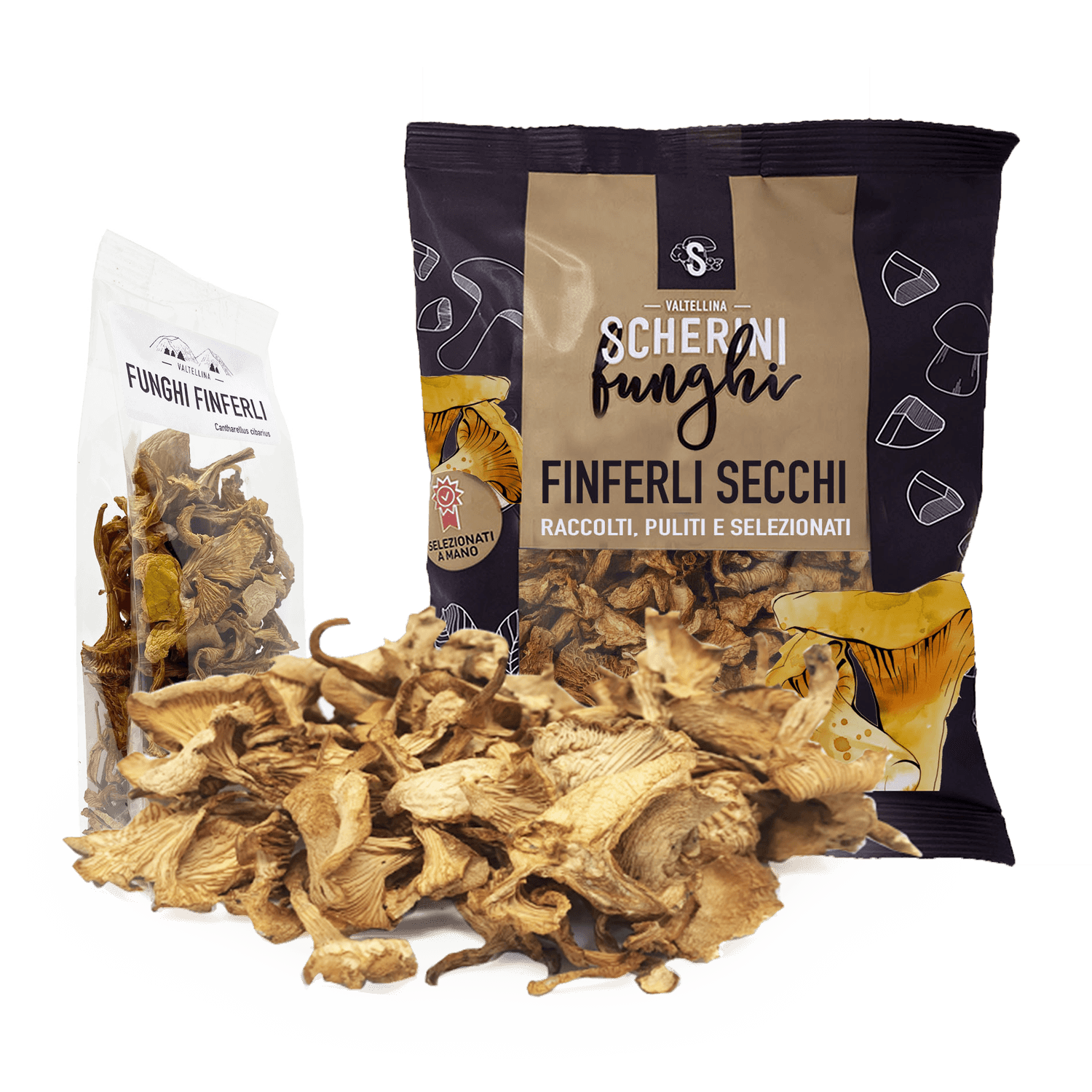 Scherini dried chanterelles